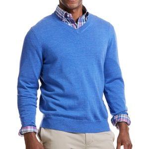 VINEYARD VINES Performance Merino Blue Sweater